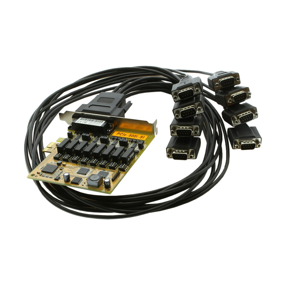 PCI Express to 8-Port RS422/485 Serial Optical Iso Surge Protection