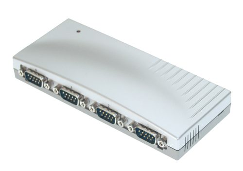Four Port DB-9 RS-232 USB Serial Adapter Box - Image A