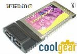 PCMCIA LAPTOP FIREWIRE  CardBus to IEEE1394 FireWire Ruggedized