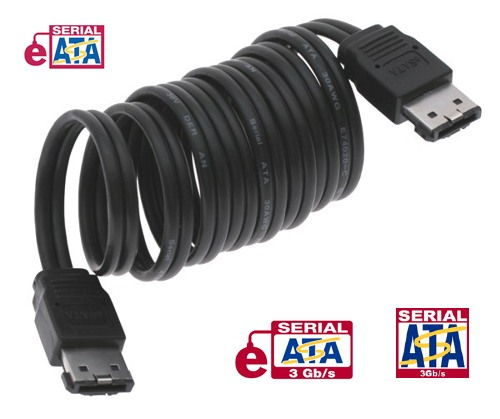 UltraFlex 60 Inch. 4.5ft. eSATA to eSATA 3GB/s External SATA 2 (eSATA) Shielded External Cable Only $11.89  at USBGear.com