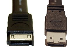 "6ft SATA to eSATA ""I"" to ""L"" Cable - Image A"