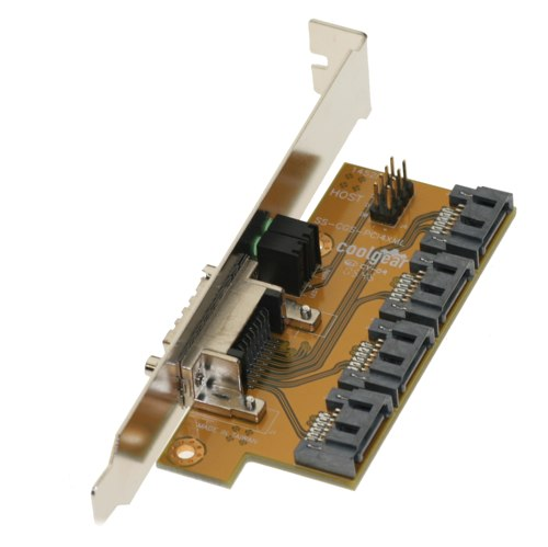 4-channel SATA PCI Bracket to MultiLane Adapter - Image A