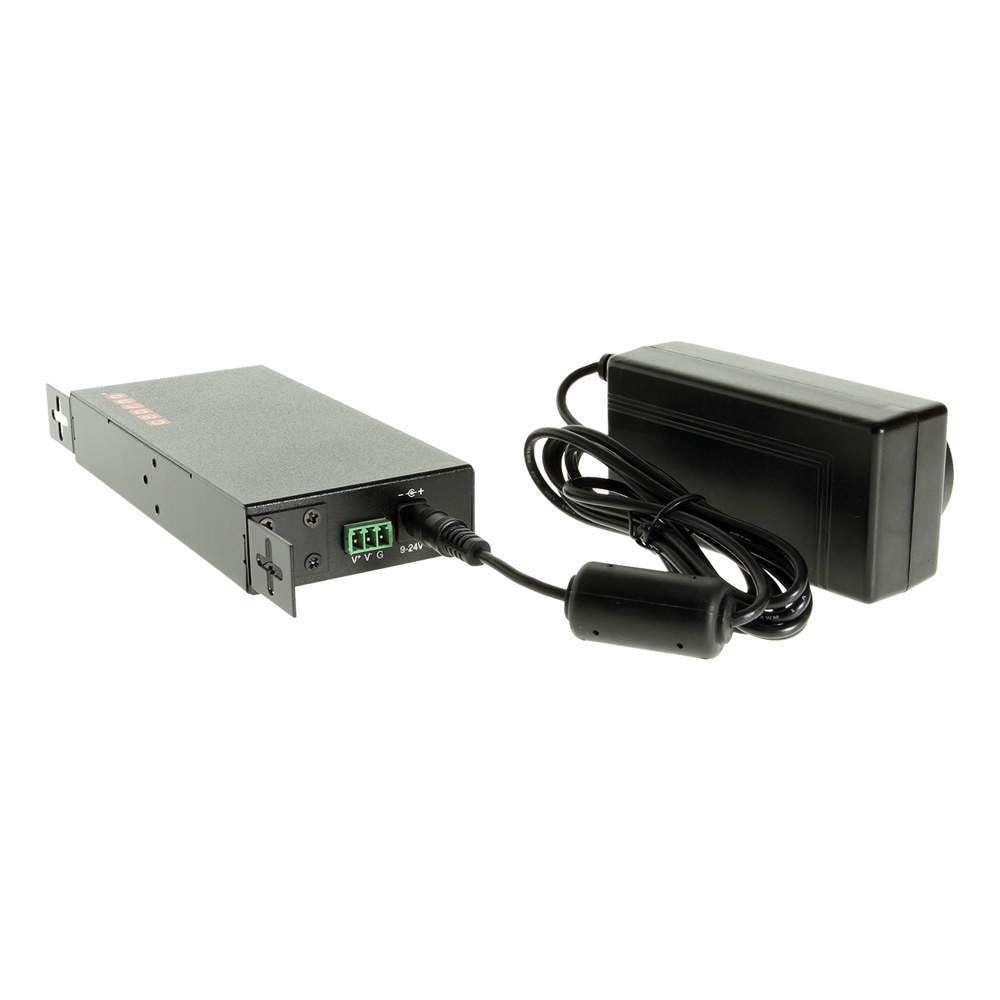 USB 2.0 7 Port Rugged Metal DIN Rail Mount Hub w/Power Adapter - Image C