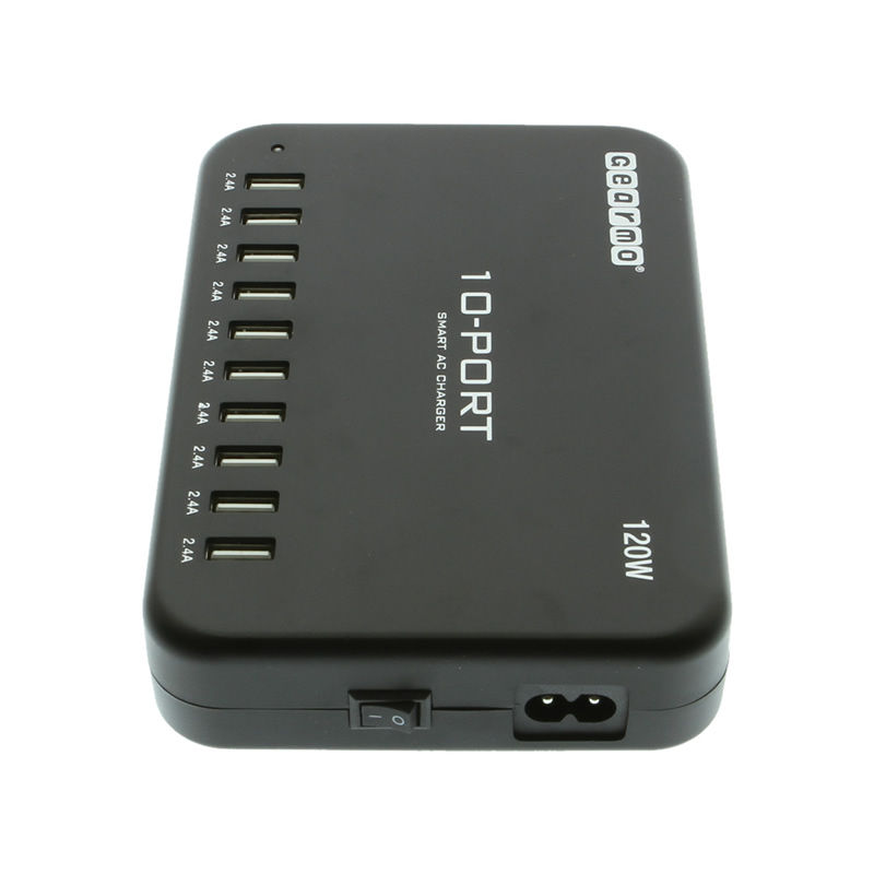 10-Port USB Charging Station 120W High Output USA Only - Image C