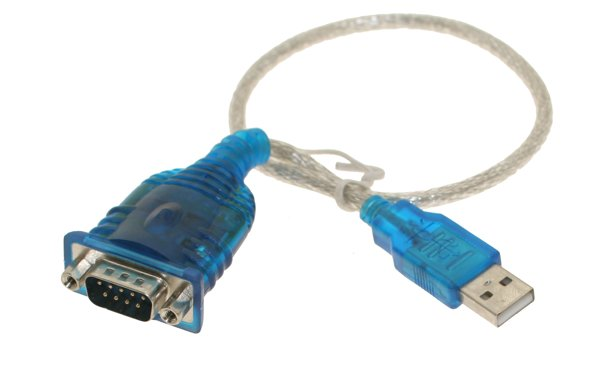 USB to Serial (9-pin) DB-9 RS-232 Adapter Cable - Image A