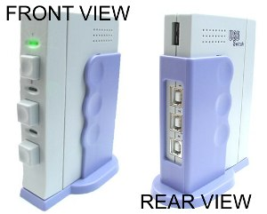 3-Port USB Sharing Switch Box --SHARE USB DEVICES WITH MORE COMPUTERS--- - Image A