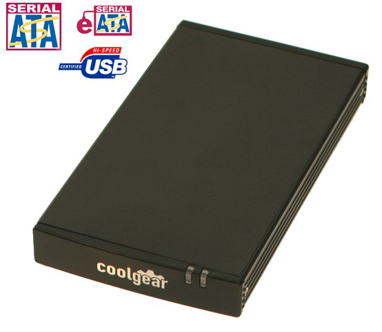 USB 2.0 Mini Enclosure for Laptop Drives with eSATA and USB 2.0 COMBO Ports for SATA HDD - Image A