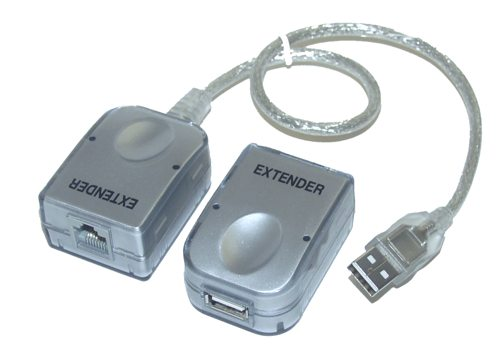 USB Cat5 Extension Cable SUPER BOOSTER USB EXTENDER - Image A