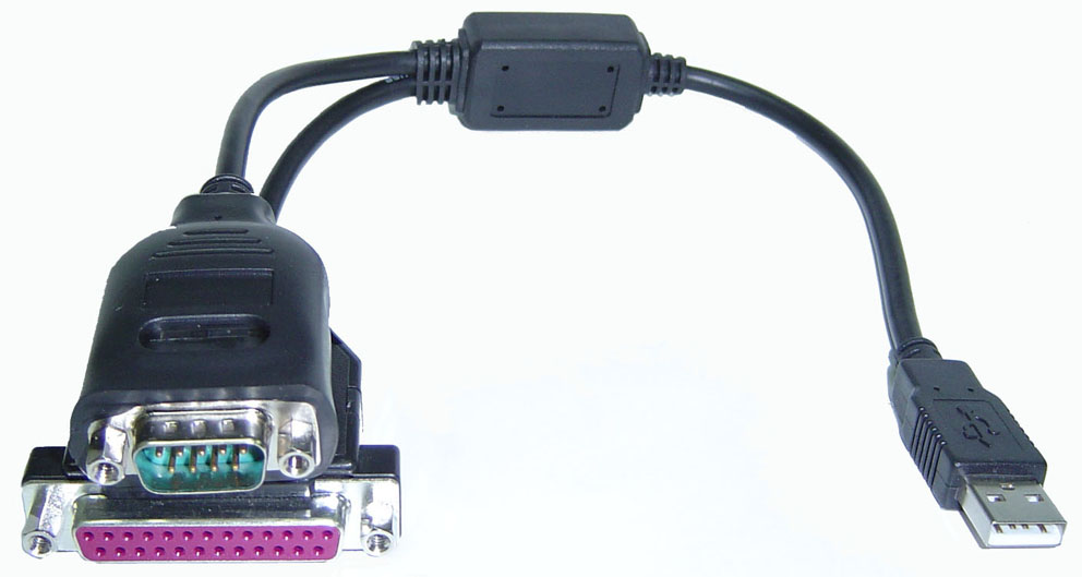 USB to RS-232 & Printer Port Cable - Image A
