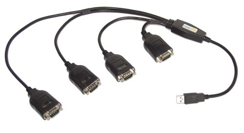 USB Four Port Serial DB-9 RS-232 Adapters with Prolific Chipset  - Image A