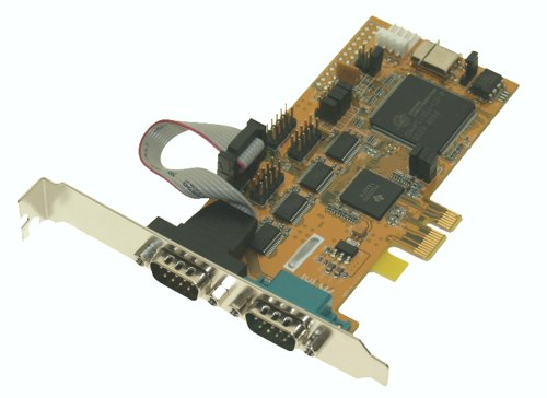 2-Port Serial RS-232 PCI-Express Card - Image A
