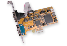 2S RS-232 PCIE Card 2-Port Serial PCI Express 1x Card - Image A