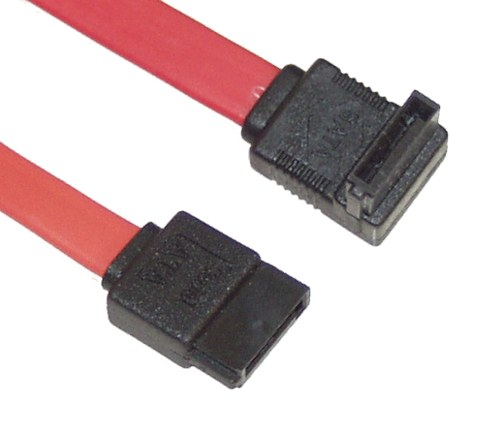 Internal SATA Serial ATA Cables from 8 inch up to 3ft. Straight to Right Angle - Image A