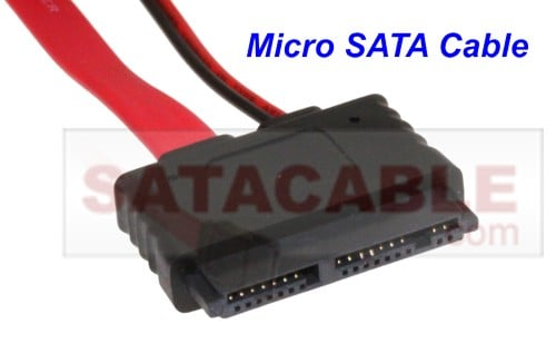 Micro SATA 1.8 inch all in one power and data cable 20 inch. - Image A