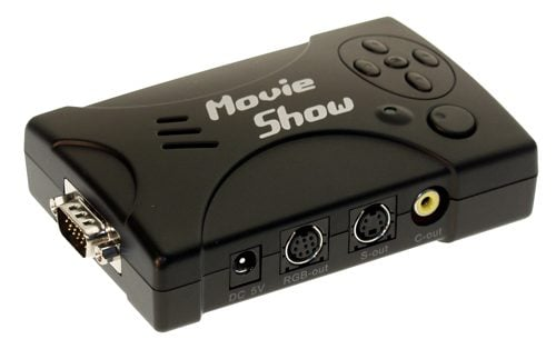 Laptop/DeskTop PC to TV Converter, MovieShow Convert any HD-15 Video to standard S-Video or Composite - Image A