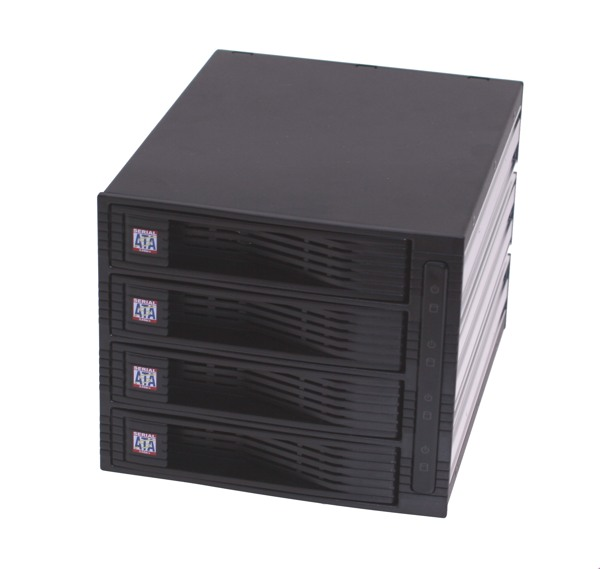 4 Drive QuickSwap 3-Bay Sub-System for SATA II Hard Drives - Image A