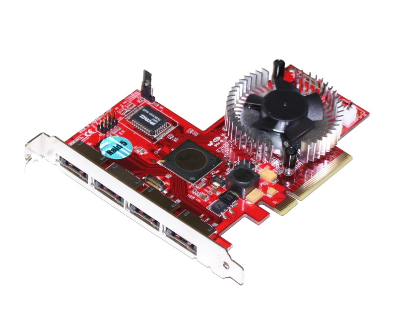 8X PCI-Express 4 Port SiliconImage Port Multiplier RAID Card for MAC and Windows - Image A