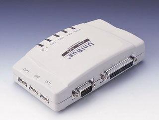 3 Port USB HUB w/ RS-232 and Printer Port
