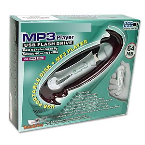 MP3 Player 64MB USB Flash Drive - Image A