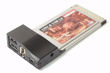FireWire/1394 & Hi-Speed USB 2.0 Combo CardBus PCMCIA Card Only $59.98  at USBGear.com