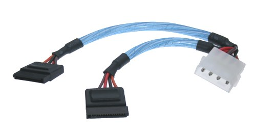 SATA Power 15-pin Cable Adapter to MOLEX 4-pin/and Floppy 4 pin - Image A