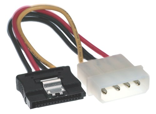 5 Inch Molex to SATA Latching Power Cable - Image A