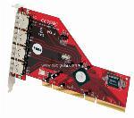 SATA II 3Gb/s 4-Port eSATA PCI-X Card For Windows and MAC