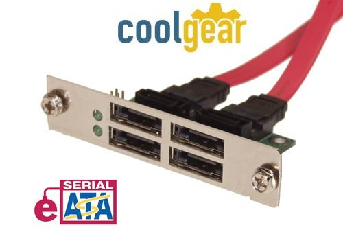 Quad Port eSATA SCSI Mount Device Bracket - Image A