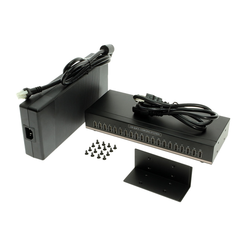 20-Port Quick Charging USB Charging Station - Image B