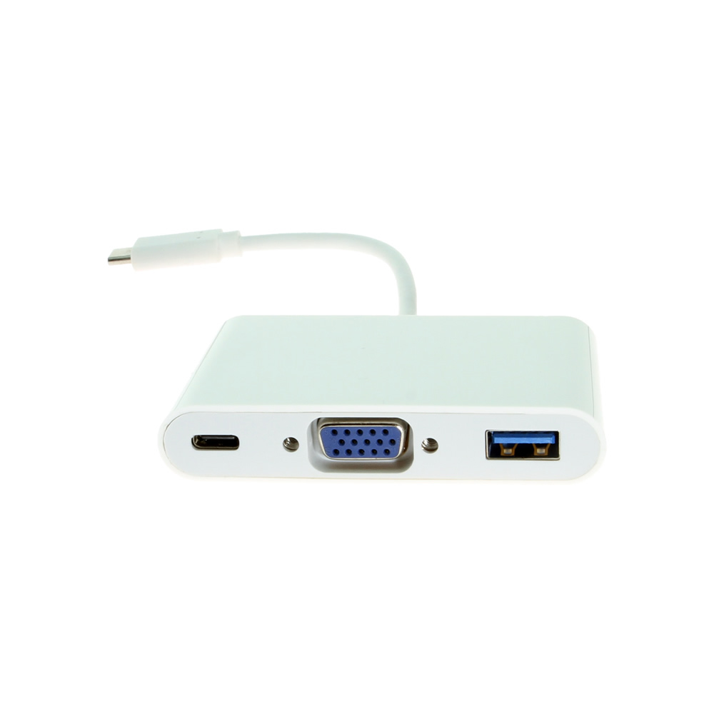 USB C to VGA Female w/USB 3.0 and Type-C Ports Only $29.95  at USBGear.com