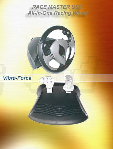 Racingstar Vibra-Force Feedback Racing Wheel