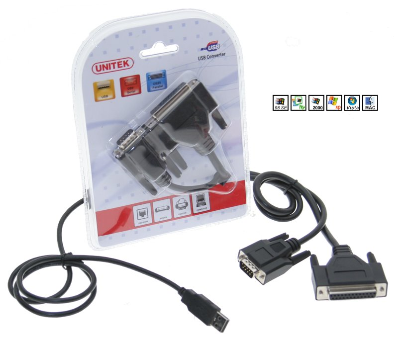 USB to Parallel and Serial Converter for Windows Only $18.96  at USBGear.com