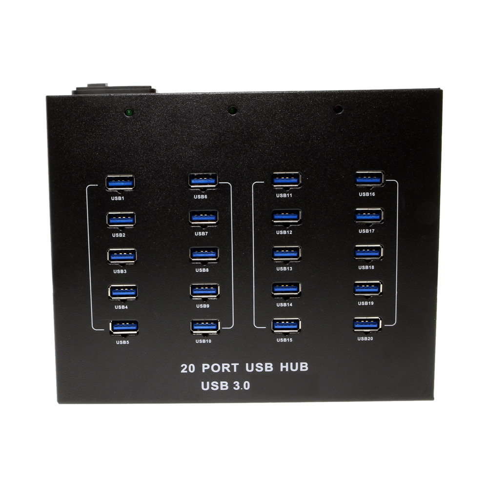 20 Port Usb 3 0 Hub Metal Chassis Internal Power Supply