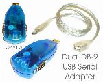 FTDI Dual Serial Port DB-9 RS-232 MINI-Adapter With Cable