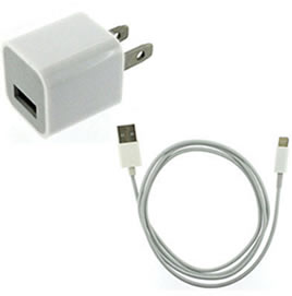 Typical iPhone charger and cable