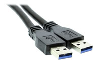 USB 3.0 cable type-A to A Male