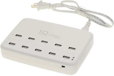 USBGear 10 port 60W USB charging station
