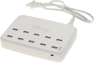 USBGear 10 port 60W USB charging station